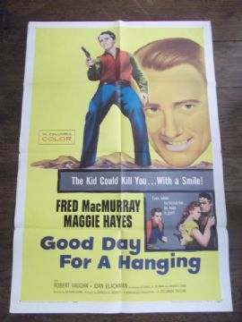 Good Day For a Hanging, Movie Poster, Fred MacMurray, Margaret Hayes '59